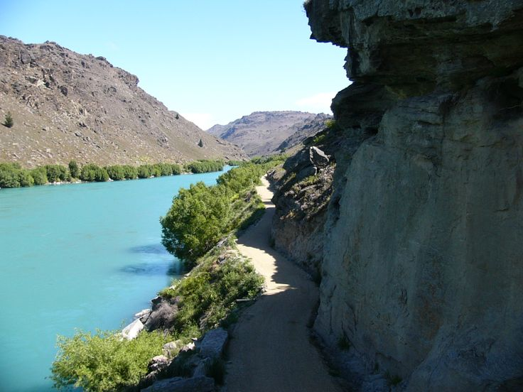 The Butchers creek walking/biking track which runs along side of the Clutha river a couple of old gold miners huts can be seen on this track in (Alexandra) Central Otago