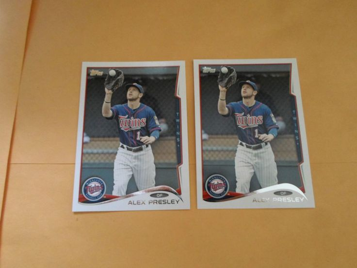 2014 TOPPS  SERIES 2 ALEX PRESLEY # 624 ( 2 CARD LOT ) #MinnesotaTwins