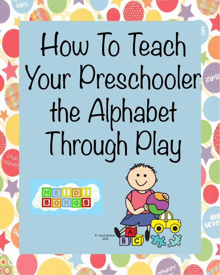 How to Teach Your Preschool Child the #Alphabet Through PLAY!