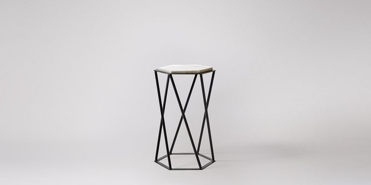 Kay Marble & Steel Side Table | Swoon Editions