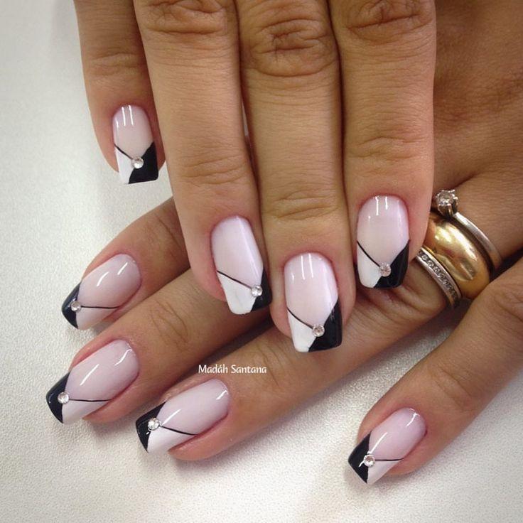 "Gefällt 428 Mal, 7 Kommentare - Madáh Santana (@madahsantana) auf Instagram: ""Nails #linda #francesinha #pretoebranco #unhasdasemsna #dicasdeunhas #madahsantana #manicure…"""