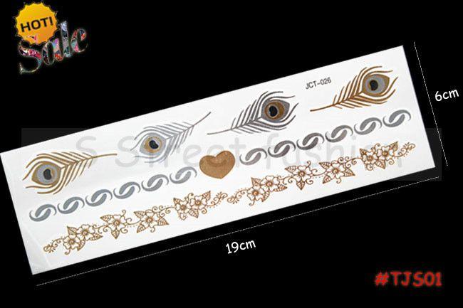 Дешевые продать 1 ШТ. новый дизайн перо стрелки металла временная Вспышка татуировки ложные мел в тело татуировки наклейки
