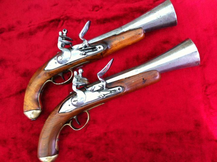Pair Of Napoleonic Period Flintlock Blunderbuss Pistols