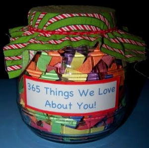 diy fathers day gift - 365 things we love about you - great for any occasion