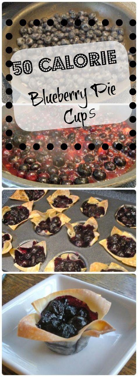 50 Calorie Blueberry Pie Cups