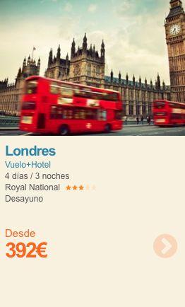 Puente de Mayo en Londres desde 392€  Desayuno incluido