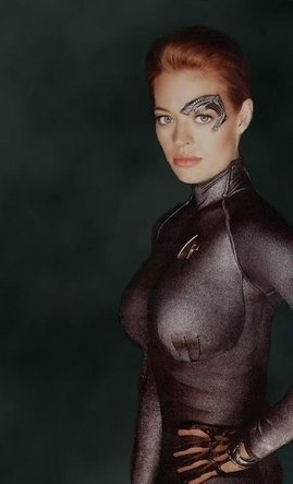 Seven of Nine....Assimilate me -- We are the Borg. Lower your shields and surrender your ships. We will add your biological and technological distinctiveness to our own. Your culture will adapt to service us. Resistance is futile. Jeri Ryan Star Trek Voyager