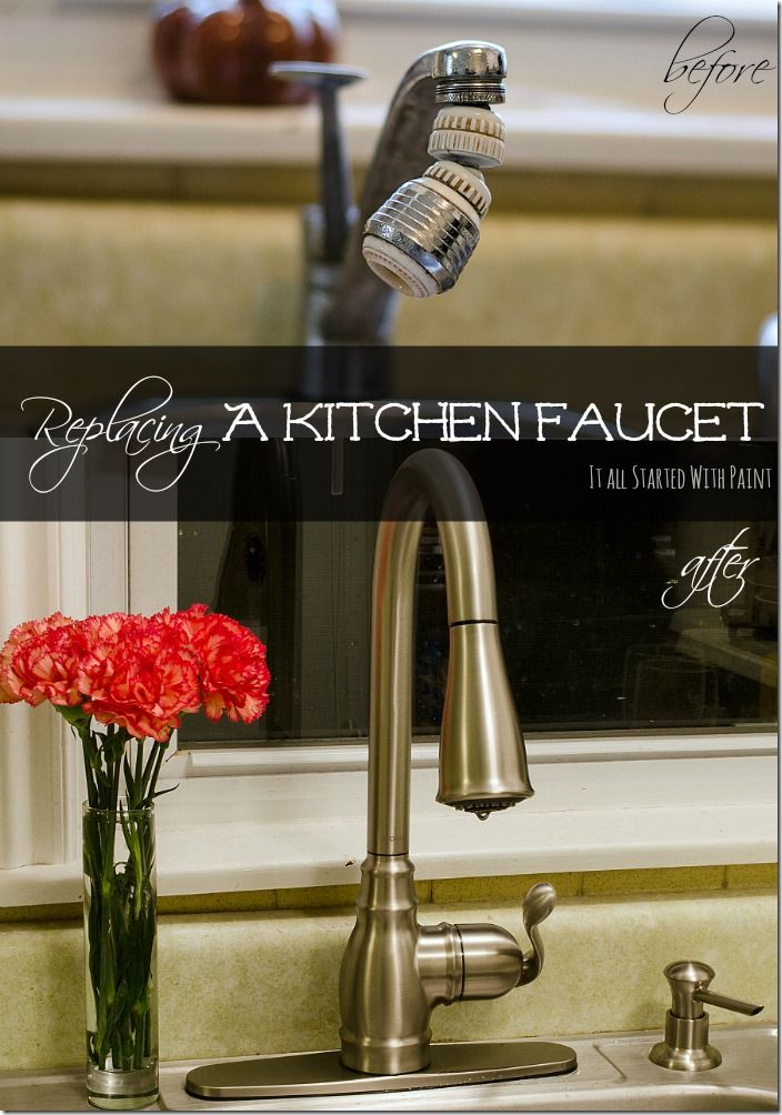 How to Install a Kitchen Faucet - It All Started With PaintKitchens Remodeling, Diyprojectscrafti Ideas, Painting Blog, Kitchens Ideas, Kitchen Faucets, Ace Bloggers, Diy Projects Crafty Ideas, Kitchens Faucets, Bloggers Replacement