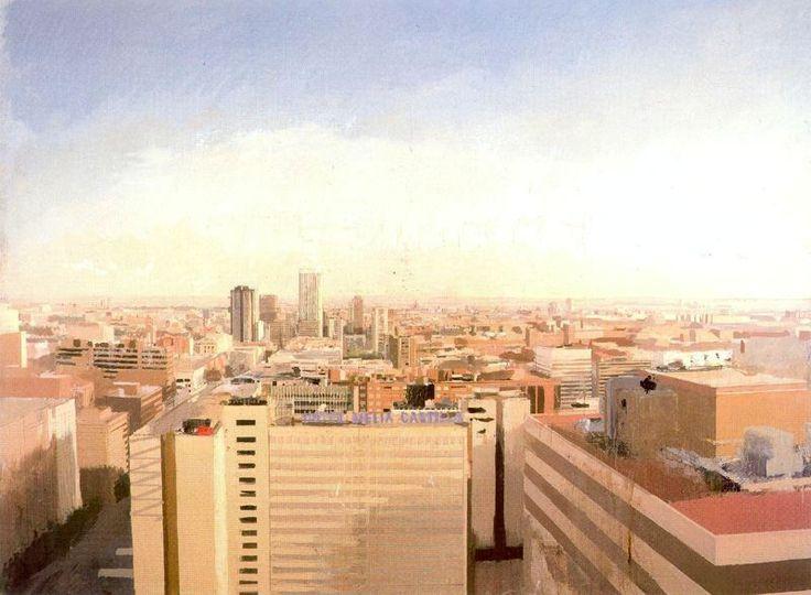 Antonio López García http://3.bp.blogspot.com/_qh_3HGPakRM/SvcmB0namCI/AAAAAAAAAZ0/aaqReAvp-Lk/s1600/Madrid+vista+desde+Capitan+Haya.jpg
