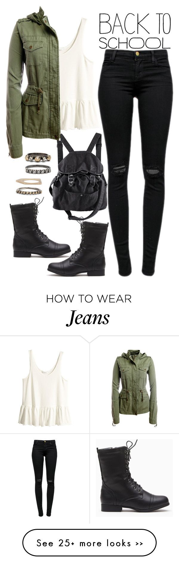 """""""905."""" by adc421 on Polyvore featuring H&M, J Brand, Aéropostale, Iosselliani, BackToSchool and falljackets"""