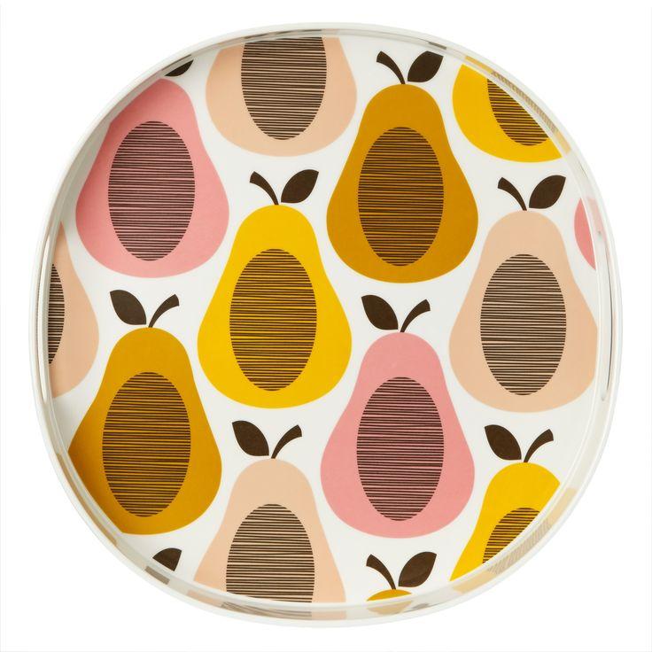 melamine tray | Orla Kiely Pear Melamine Tray, Candy Floss