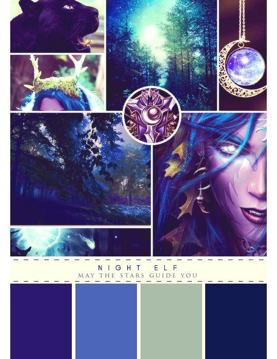 Warcraft + Moodboards • Night Elf