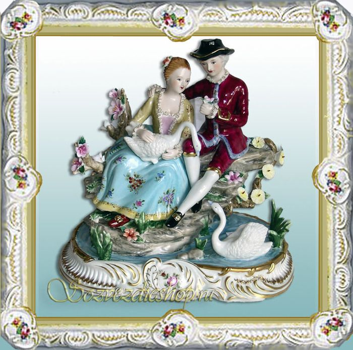 Gradually, the porcelain became more available.Not only noblemеn, but also richs merchant's families could afford the porcelain dishes, decorative vases, exquisite porcelain of the statuette.