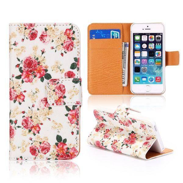Roosjes design bookcase hoesje voor iPhone 5 / 5S