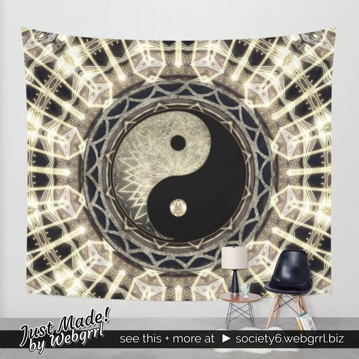 #JustMade by me!  Yin Yang #Yoga #balance Wall Tapestry for home or studio @society6  see this + more at  ► society6.webgrrl.biz