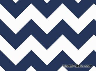 $10.99 Large Chevron Cotton Fabric Navy