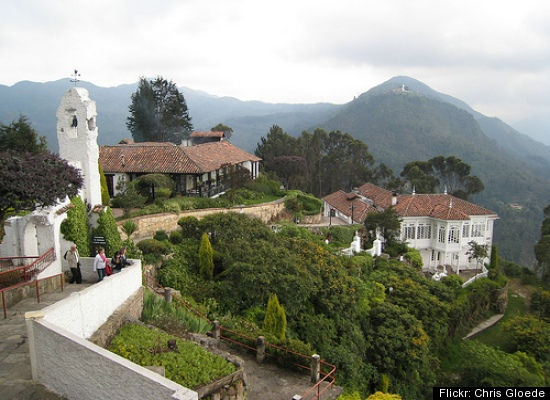Bogota- this is at the top of the most famous mountain in Bogota. People go to the top for a traditional church to be blessed of any ailments. This is also a popular restaurant where young ladies are proposed to by their special fella! You get there now only by cable car!