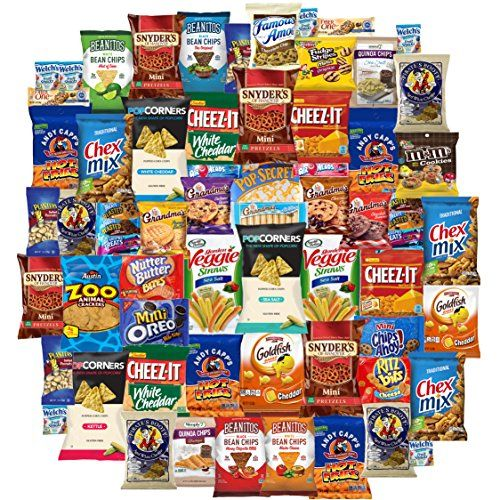 Ultimate Snacks Chips Cookies Candy Variety Assortment Pack Bulk Sampler Care Package 65 Count * To view further for this item, visit the image link.