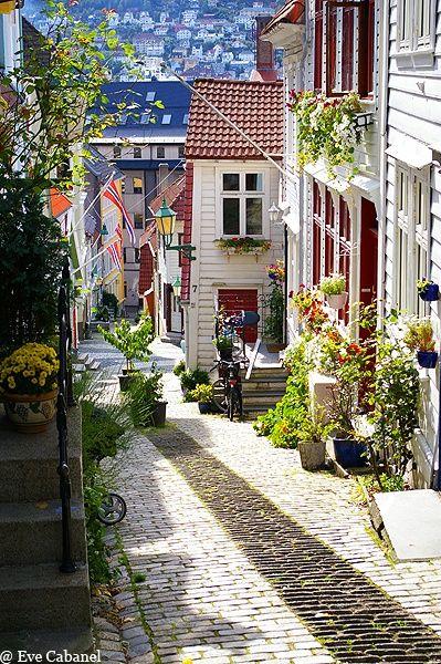 Bergen, Noruega! Lindo demais!