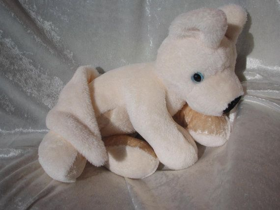 Arctic WOLF Swiss Shepherd White Fox Cuddly puppy soft toy or Home Decor stuffed animal handmade OOAK by TALLhappyCOLORS