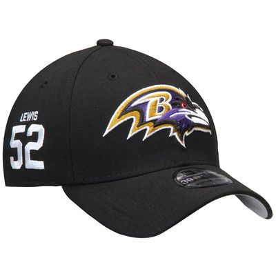 Ray Lewis Baltimore Ravens New Era Super Bowl XXXV Rear Stamp 39THIRTY Flex Hat - Black