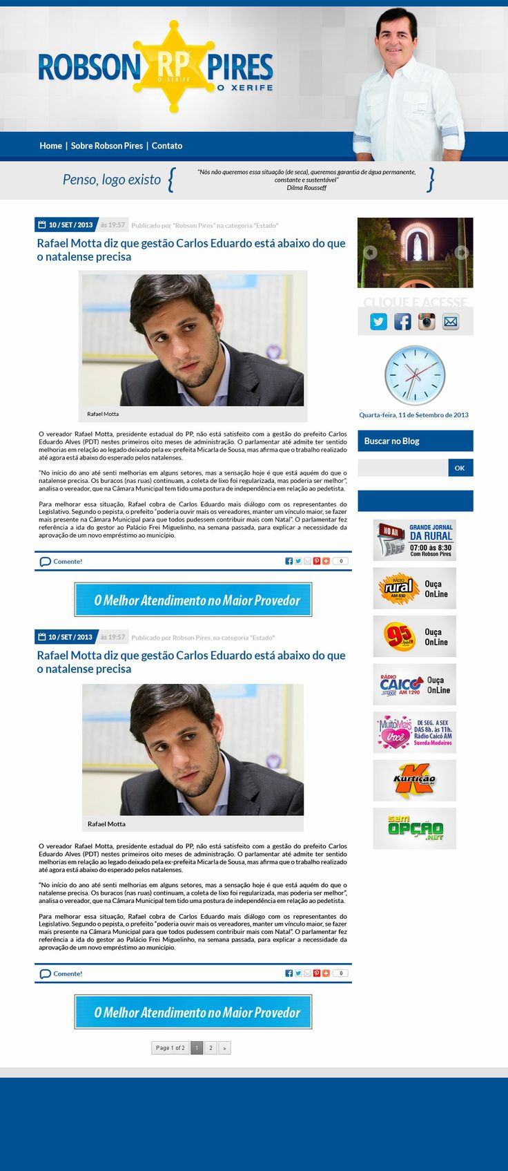 Blog de Robson Pires (www.robsonpiresxerife.com)