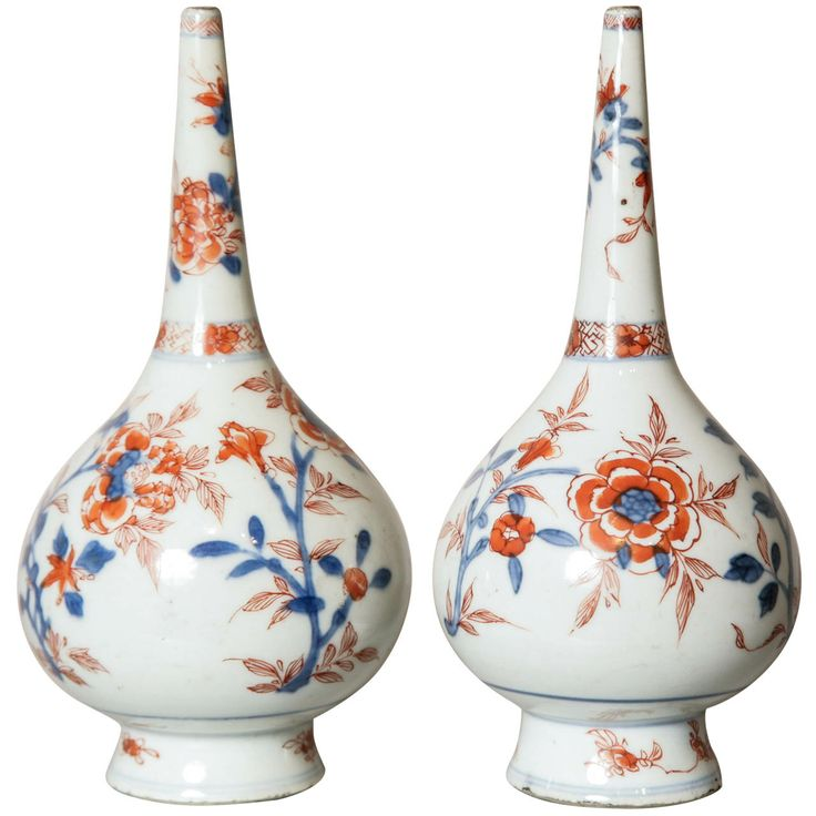 Pair of Chinese Imari Rosewater Sprinklers, 18th Century | From a unique collection of antique and modern ceramics at http://www.1stdibs.com/furniture/asian-art-furniture/ceramics/