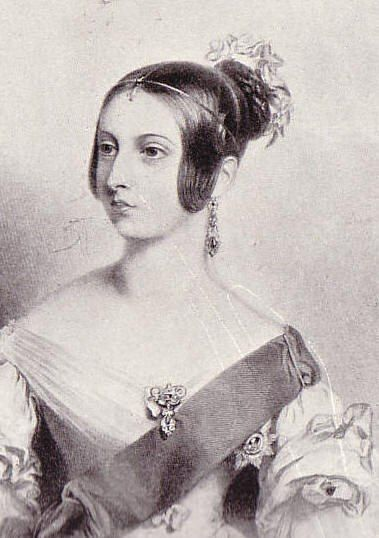 Queen Victoria age 18.