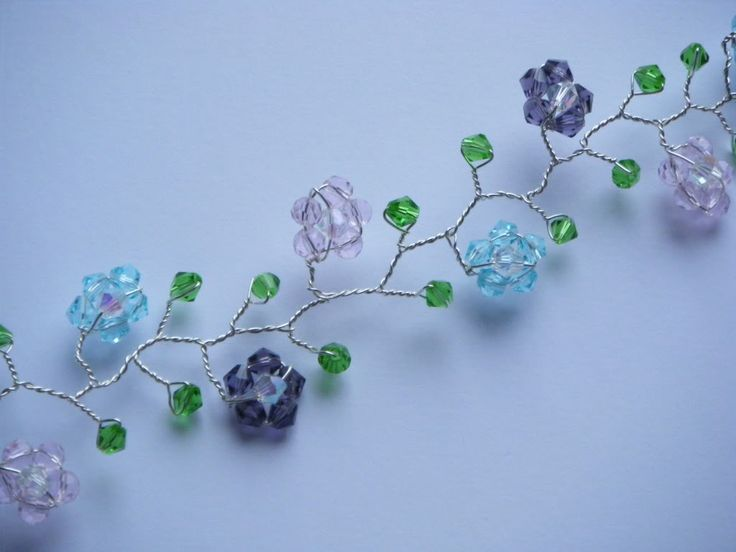 A pretty, homemade bracelet.  I so would not have the patience to make this, but I do like it!