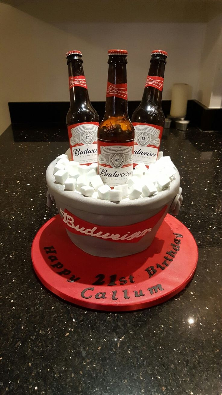 25 Best Ideas About Budweiser Cake On Pinterest Beer