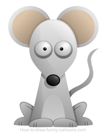 Funny cartoon mouse that should be rewarded with a piece of cheese.