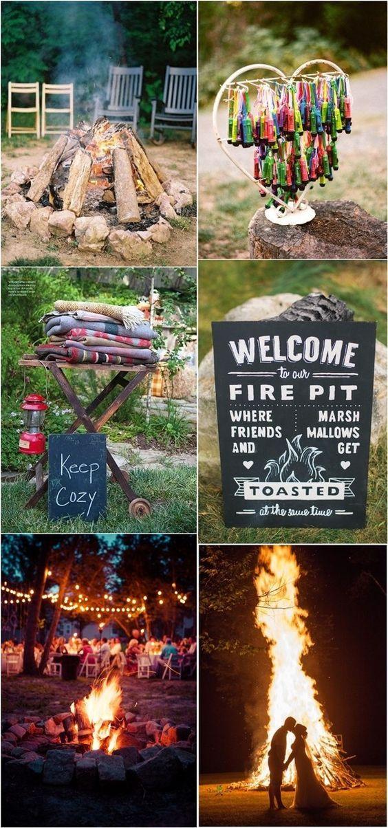 30 Sweet Rustic Camp Wedding Ideas