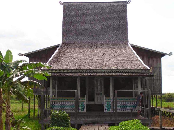 Rumah Banjar (Banjar House), South Borneo/ Kalimantan traditional house, Indonesia.