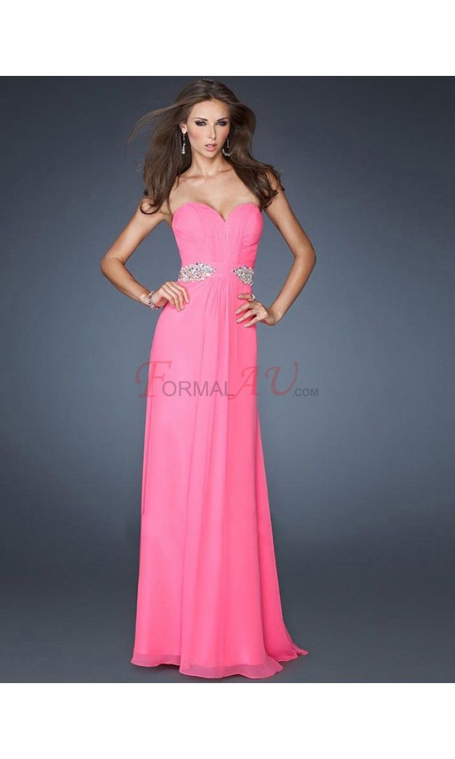 Sheath Sweetheart Chiffon Formal Dresses/Long Evening Dresses with Beading FAU1404P801561 - Formalau.com
