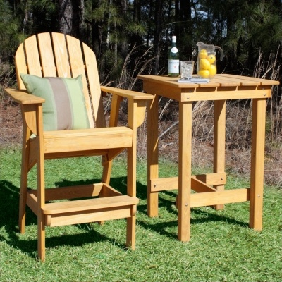 Stained Cypress Adirondack Bar Chair Adirondack Chairs