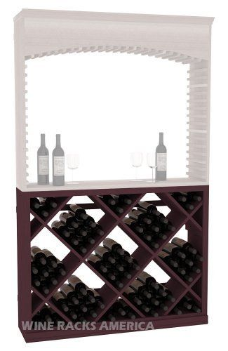 """Five Star Series: Diamond Bin for Wine Archway Wine Cellar Rack in Pine with Burgundy Stain by Wine Racks America®. $775.70. Industry 1-1/2"""" toe-kick keeps your wine off the floor. Made from eco-friendly wood sources in sustainable forests. Money Back Guarantee + Lifetime Warranty. Some assembly required. Bottle capacity: 72 bottles (750ml). 11/16"""" wood thickness.. The Diamond Wine Storage Bin is a cost-effective alternative to individual bottle racks by providing ma..."""