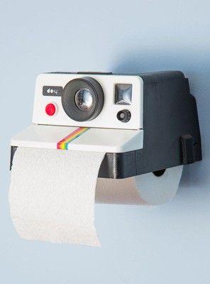 polaroid toilet paper holder - ha!