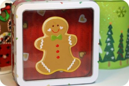 1000 images about christmas tin containers on pinterest for Decorating tins for christmas