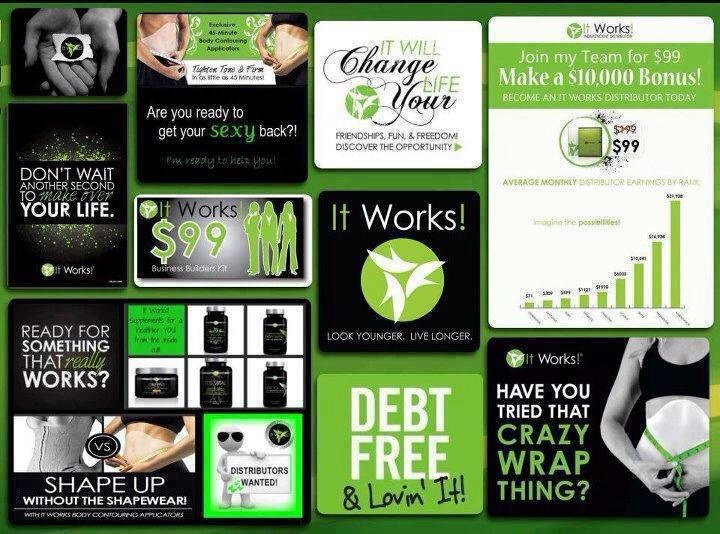 It works! Distributor www.kirstibostick.myitworks.com Email me at kirstibostick.itworks@gmail.com Join my team and become a distributor today!