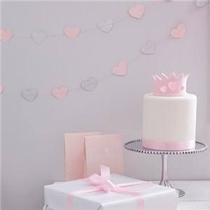 JUST ADDED - Itty Bitty Party Princess Perfection Silver Glitter Heart Garland   VIEW HERE: