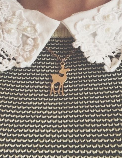 fawn necklace : very @Zoe James James James James Sugg ! #zoella #thisscreamsZOE