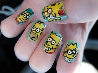 the simpsons #nails