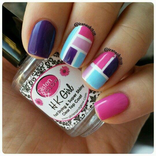 color block #bomnailartapril