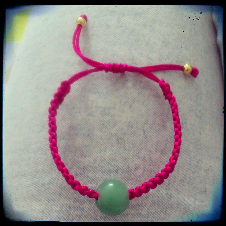 bracelet fashion style pulseras bisuteria bijoux handmade jewelry pink shuuforyou jade