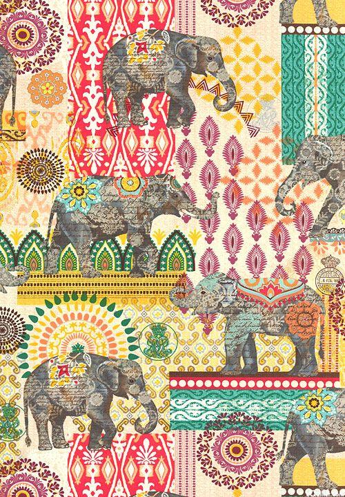 hermoso estampado con elefantes                                                                                                                                                                                 Más