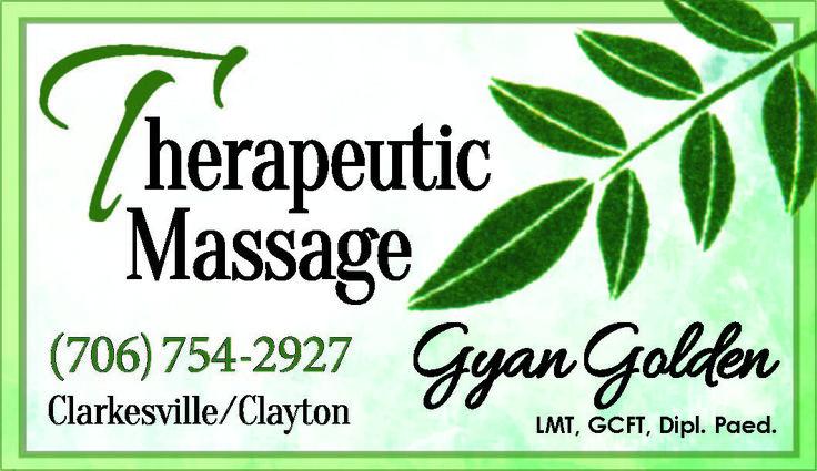 Gyan Golden LMT, GCFT, Dipl. Paed. Clarkesville / Clayton