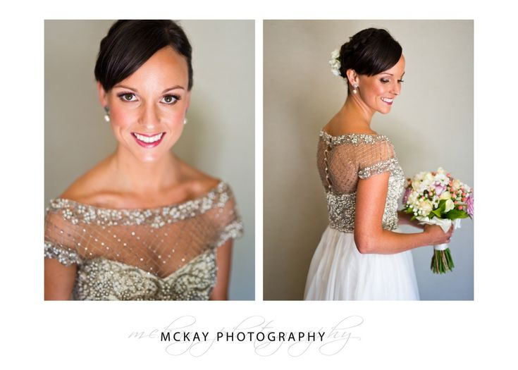 Bride wearing Collette Dinnigan dress - wedding at Gibraltar Hotel Bowral.  McKay Photography - http://www.mckayphotography.com.au