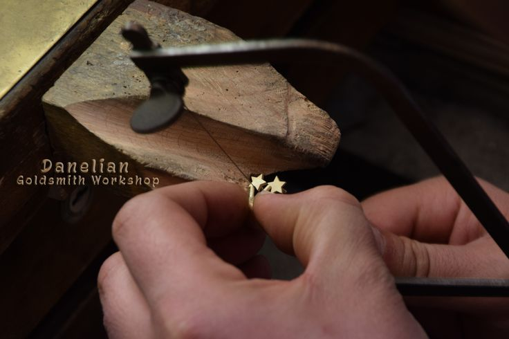 Handmade Gold Jewelry, Gold Earrings, Danelian Goldsmith Workshop, Etsy Shop, Goldsmith Bench, Diamond Stars, Gold Star Studs, Etsy Jewelry Presentation, Gold hand made, inside workshop