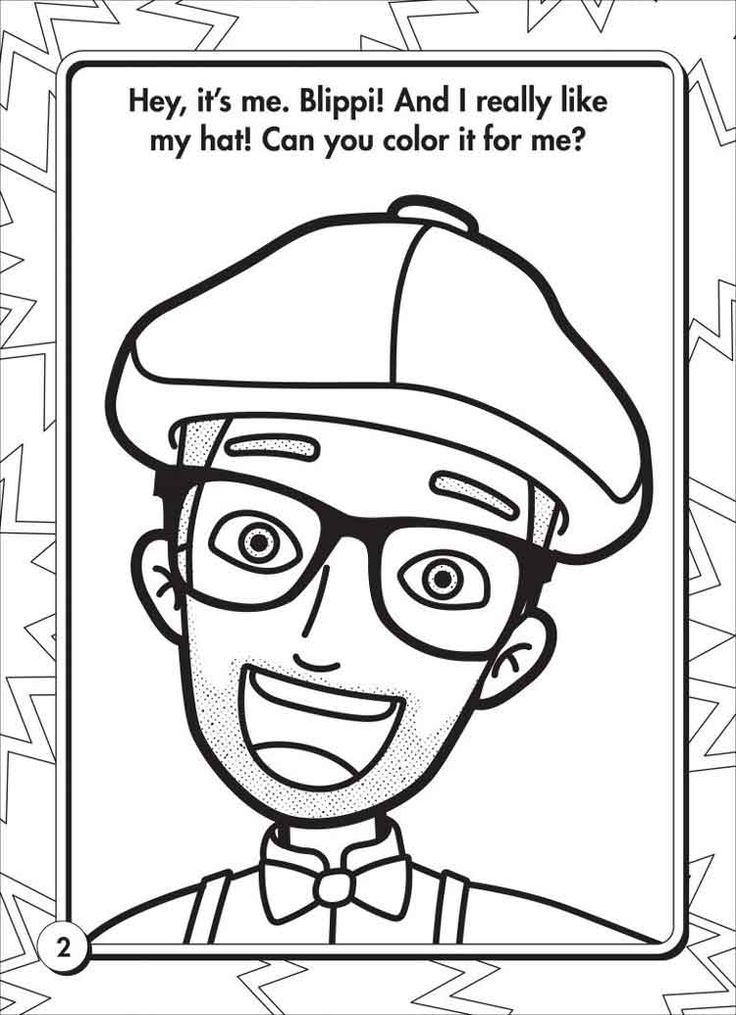 10 Best Free Printable Blippi Coloring Pages For Kids in ...