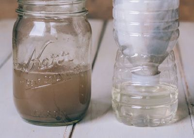 Make your own mini water filter to see dirty water become clear.